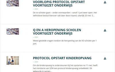 Alle informatie over de herstart van de scholen voor iedereen toegankelijk op Onderwijsdatabank