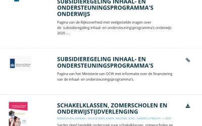Informatie over zomerscholen en verlengde onderwijstijd nu toegankelijk op de Onderwijsdatabank